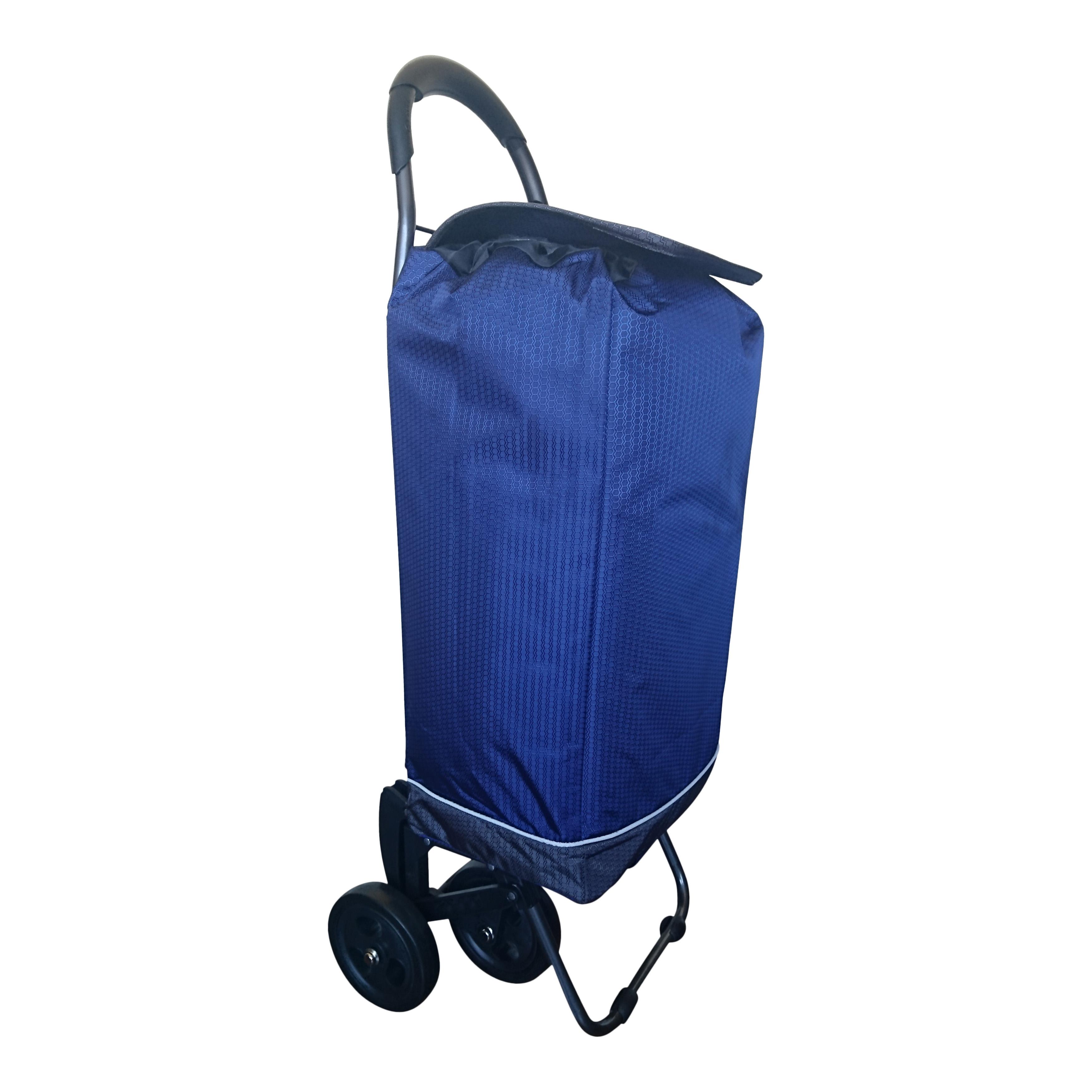 2Mobility 4-wiel Boodschappenwagen Blauw