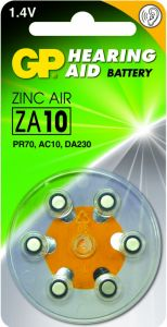 Zink Air hoorapparaat batterijen - ZA10, blister 6 stuks