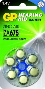 Zink Air hoorapparaat batterijen - ZA675, blister 6 stuks