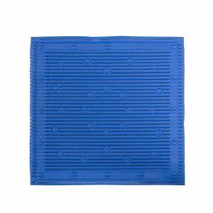 Anti-slip douchemat blauw