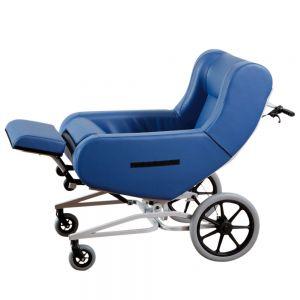 Verpleegrolstoel Doris, blauw, 2 zwenkwielen, groot