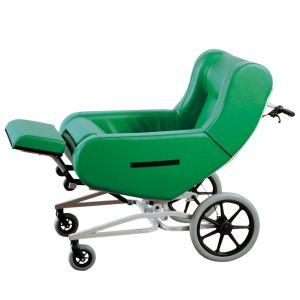 Verpleegrolstoel Doris, groen, 2 zwenkwielen, groot