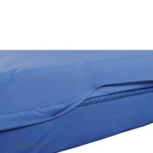 Complete overtrek uit PU, blauw, 90 x 200 x 12 cm