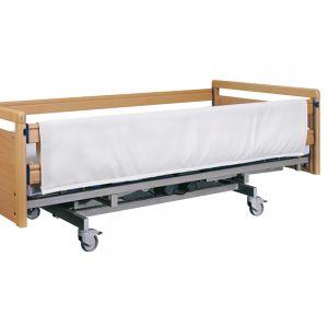 Bekleding voor bedspijlen, wit, 190 x 75 cm, rits
