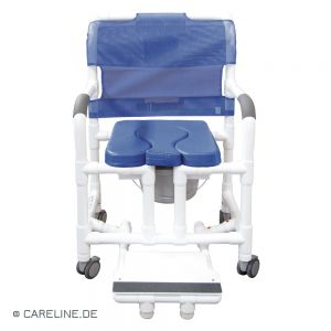 PCS® douche- en toiletrolstoel - postoel XL compleet, wit