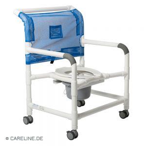 PCS® douche- en toiletrolstoel - postoel XXL, wit