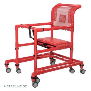PCS® looprek hoogteverstelbaar, rood