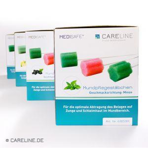MEDISAFE® mondverzorgingsstaafjes, munt, 100 stuks/box
