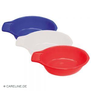 Handwasteilen met zeep-oplegvak, blauw