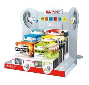 Display Alpine oordopjes  18 stuks  AL200250