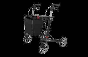 Athlon HD carbon heavy duty rollator, brede zitting 54cm Zwart maat L