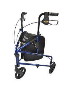 Aluminium 3-wiel rollator blauw PR30275-BL