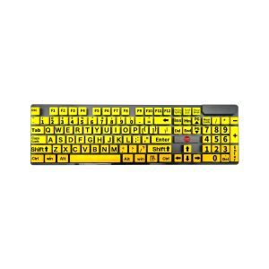 Grootletter toetsenbord – geel