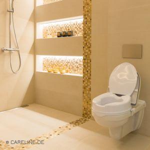 AQUASAFE® toiletzitverhoging Clean, met deksel, 5 cm