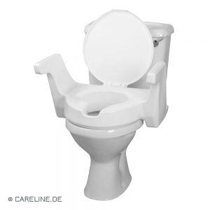 Toiletzitverhoging, met armleuningen en deksel