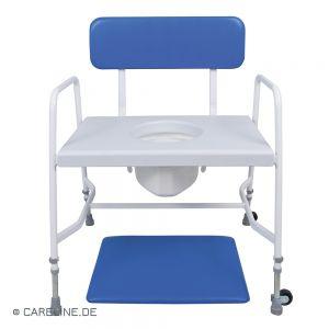Toiletstoel / postoel voor zwaarlijvigen, tot 318 kg