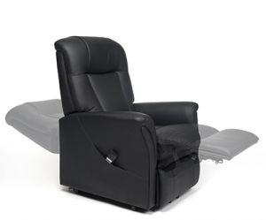 Sta-op stoel Ontario 2 Skai Zwart
