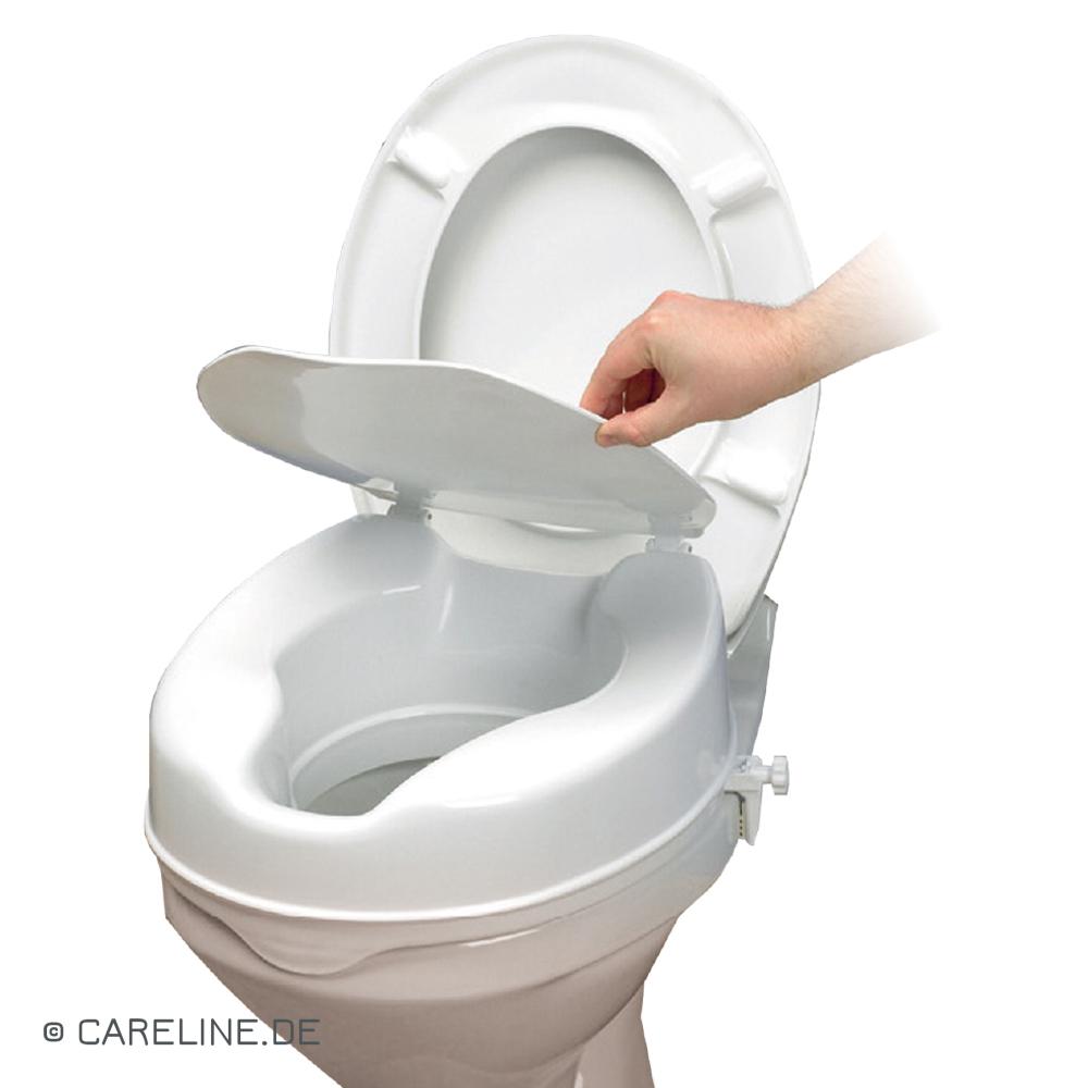 Toiletzitverhoging Savanah, met deksel, 15 cm