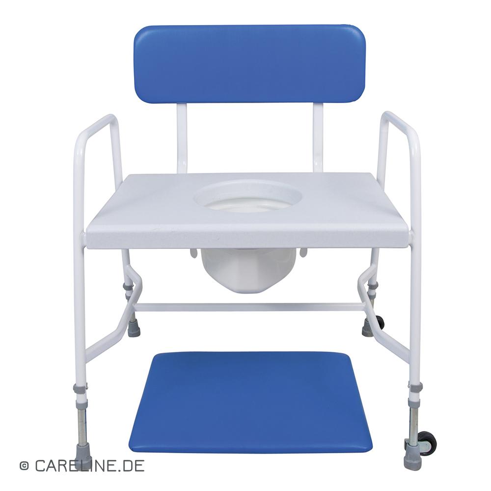 Toiletstoel - postoel voor zwaarlijvigen, tot 318 kg