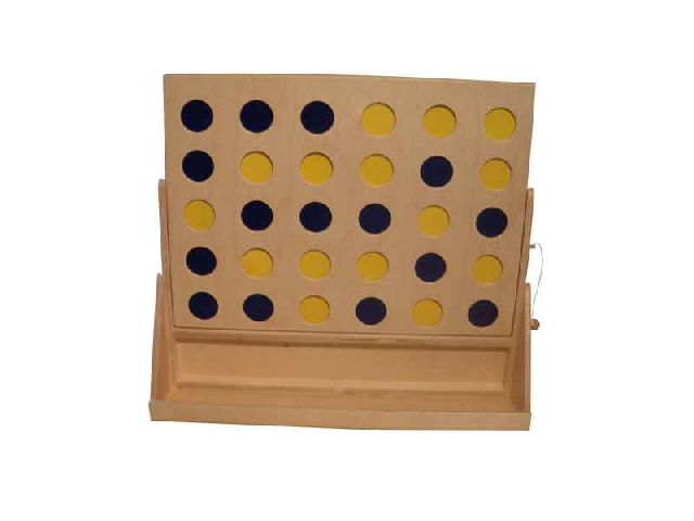 Houten 4 op een rij 60 x 25 x 45cm